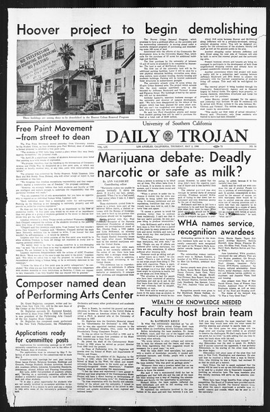 Daily Trojan, Vol. 59, No. 117, May 02, 1968