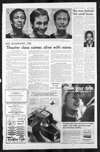 Daily Trojan, Vol. 59, No. 48, November 30, 1967