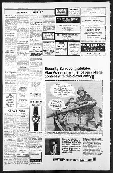 Daily Trojan, Vol. 59, No. 55, December 11, 1967
