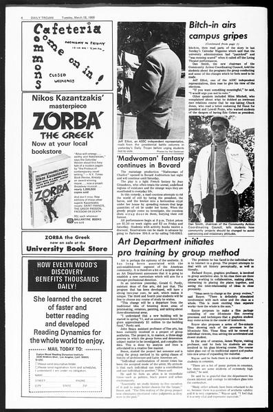 Daily Trojan, Vol. 60, No. 92, March 18, 1969