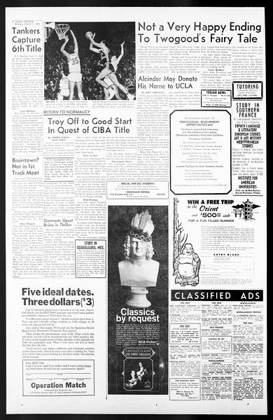 Daily Trojan, Vol. 57, No. 82, March 07, 1966