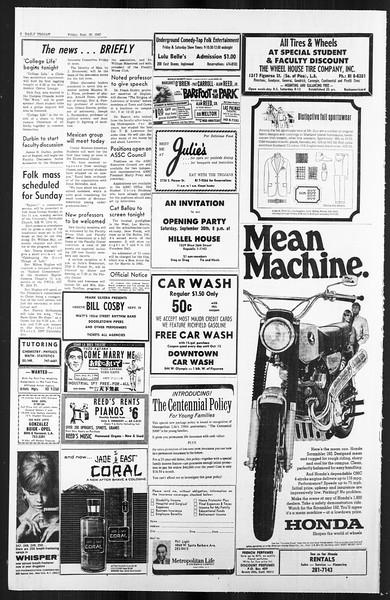 Daily Trojan, Vol. 59, No. 10, September 29, 1967