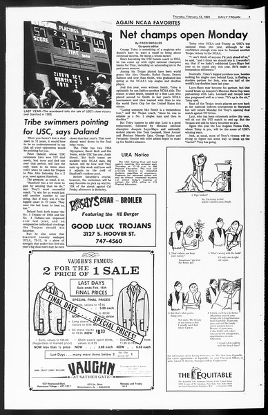 Daily Trojan, Vol. 60, No. 70, February 13, 1969