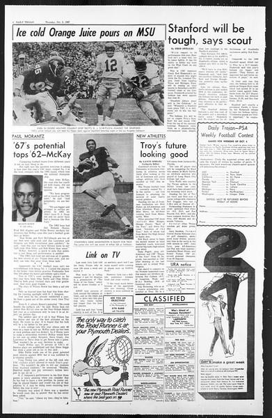 Daily Trojan, Vol. 59, No. 14, October 05, 1967