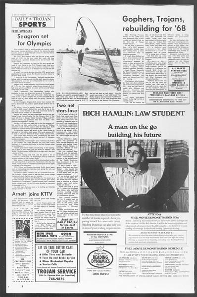 Daily Trojan, Vol. 60, No. 2, September 17, 1968