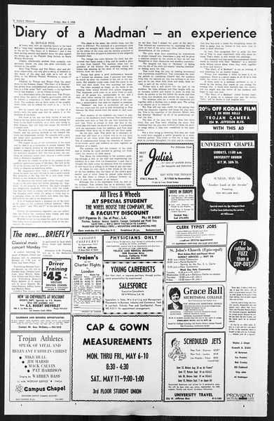 Daily Trojan, Vol. 59, No. 118, May 03, 1968