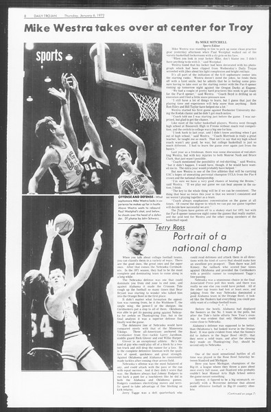 Daily Trojan, Vol. 64, No. 58, January 06, 1972