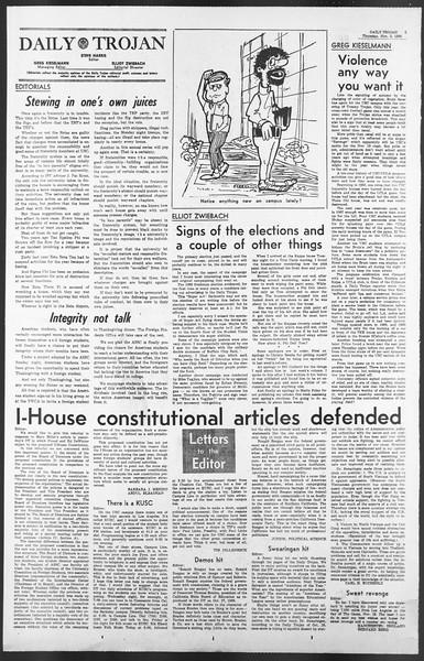 Daily Trojan, Vol. 58, No. 33, November 03, 1966