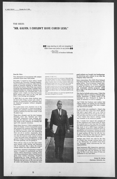 Daily Trojan, Vol. 58, No. 43, November 17, 1966