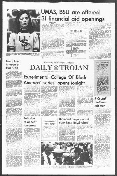 Daily Trojan, Vol. 60, No. 58, January 07, 1969
