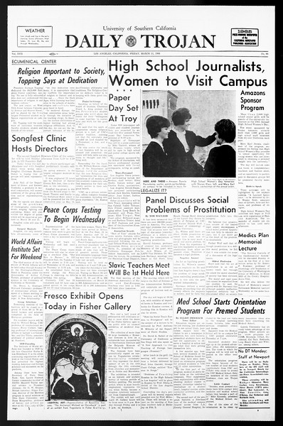 Daily Trojan, Vol. 57, No. 86, March 11, 1966