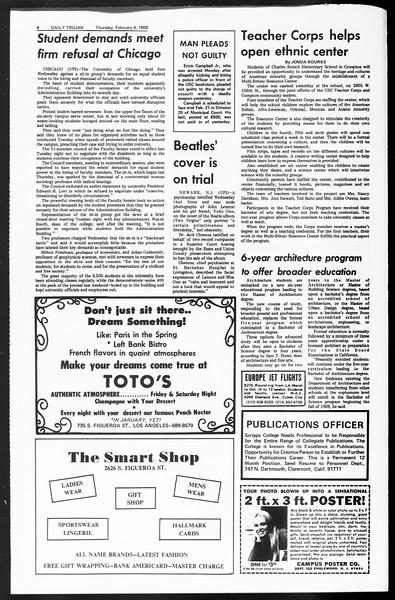 Daily Trojan, Vol. 60, No. 65, February 06, 1969