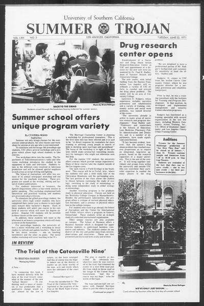 Summer Trojan, Vol. 63, No. 3, June 22, 1971