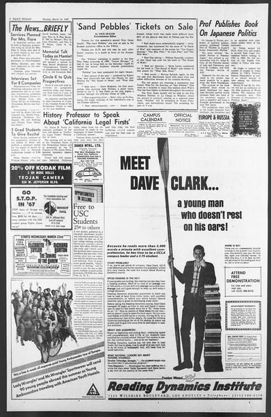 Daily Trojan, Vol. 58, No. 88, March 13, 1967