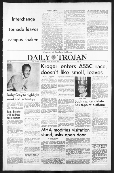 Daily Trojan, Vol. 59, No. 91, March 15, 1968
