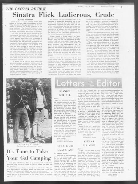 Summer Trojan, Vol. 19, No. 12, July 30, 1968