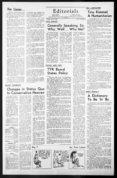 Daily Trojan, Vol. 57, No. 45, November 22, 1965