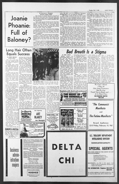 Daily Trojan, Vol. 58, No. 65, February 07, 1967