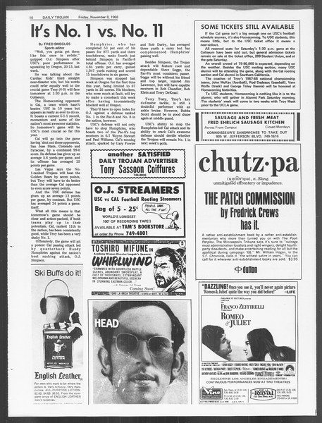 Daily Trojan, Vol. 60, No. 35, November 08, 1968