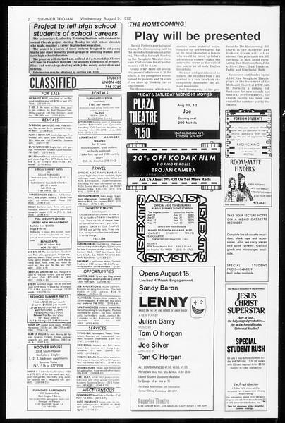 Summer Trojan, Vol. 65, No. 14, August 09, 1972