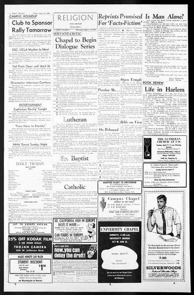 Daily Trojan, Vol. 57, No. 102, April 15, 1966