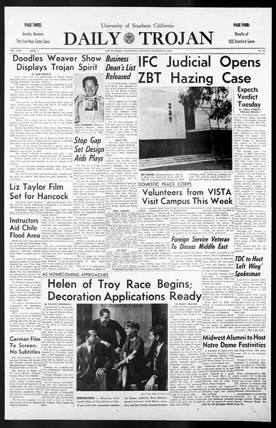Daily Trojan, Vol. 57, No. 21, October 18, 1965