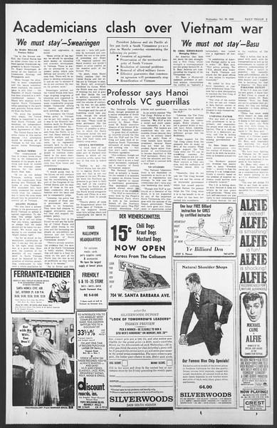 Daily Trojan, Vol. 58, No. 27, October 26, 1966