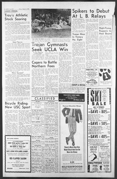 Daily Trojan, Vol. 58, No. 82, March 03, 1967