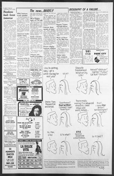 Daily Trojan, Vol. 58, No. 58, December 14, 1966