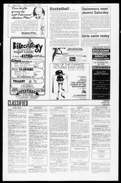 Daily Trojan, Vol. 65, No. 48, December 01, 1972