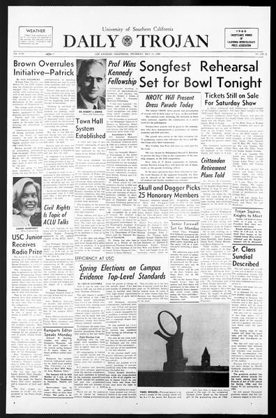 Daily Trojan, Vol. 57, No. 118-A, May 12, 1966