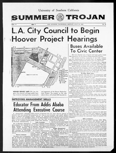 Summer Trojan, Vol. 15, No. 8, July 19, 1965
