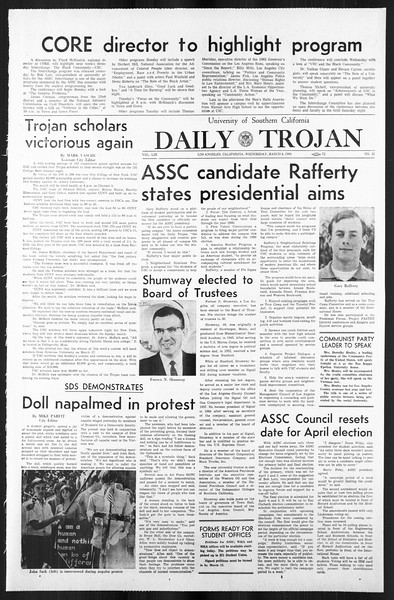 Daily Trojan, Vol. 59, No. 84, March 06, 1968