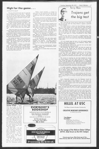 Daily Trojan, Vol. 64, No. 7, September 28, 1971