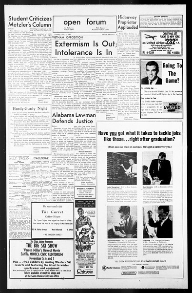 Daily Trojan, Vol. 57, No. 32, November 02, 1965