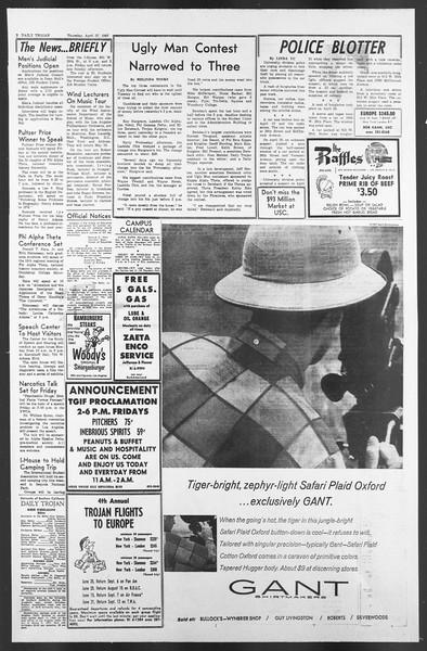 Daily Trojan, Vol. 58, No. 113, April 27, 1967
