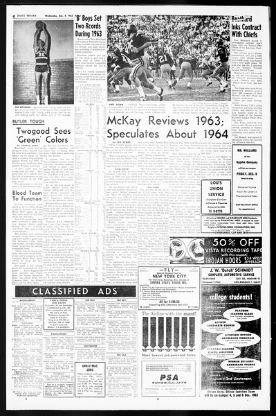 Daily Trojan, Vol. 55, No. 48, December 04, 1963
