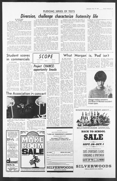 Daily Trojan, Vol. 58, No. 8, September 28, 1966
