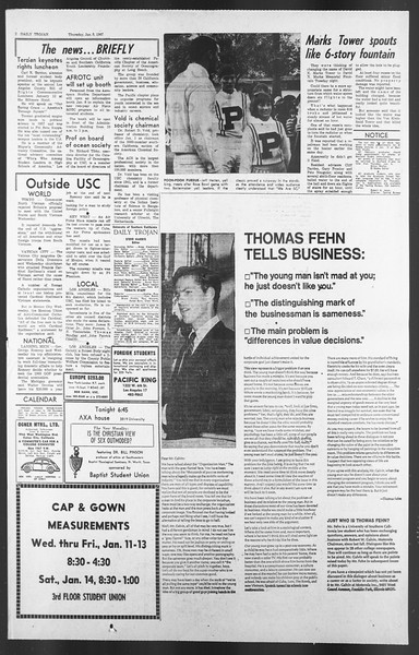 Daily Trojan, Vol. 58, No. 60, January 05, 1967