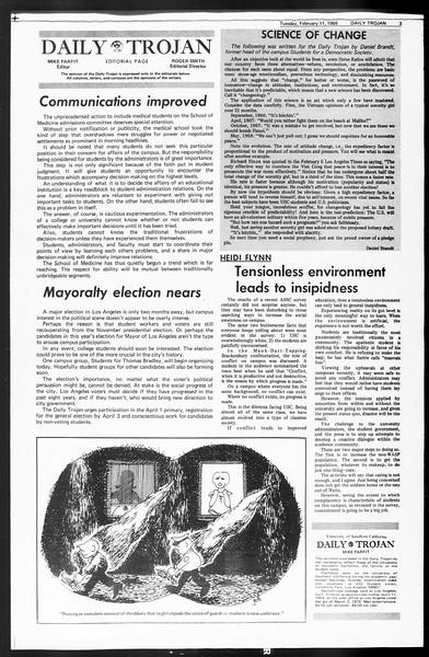 Daily Trojan, Vol. 60, No. 68, February 11, 1969