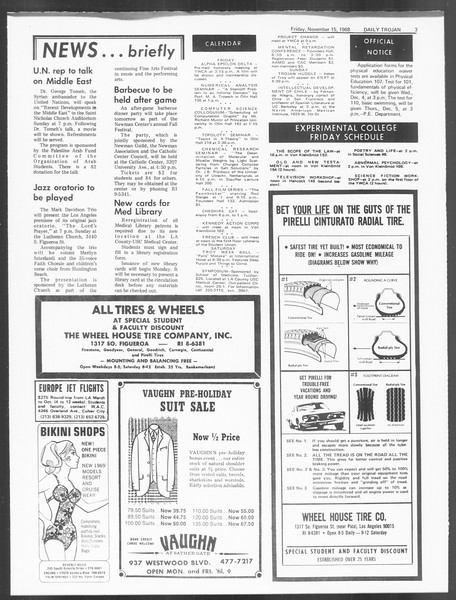 Daily Trojan, Vol. 60, No. 40, November 15, 1968