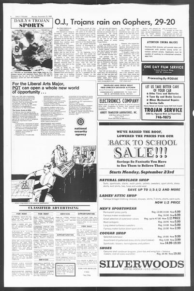 Daily Trojan, Vol. 60, No. 6, September 23, 1968
