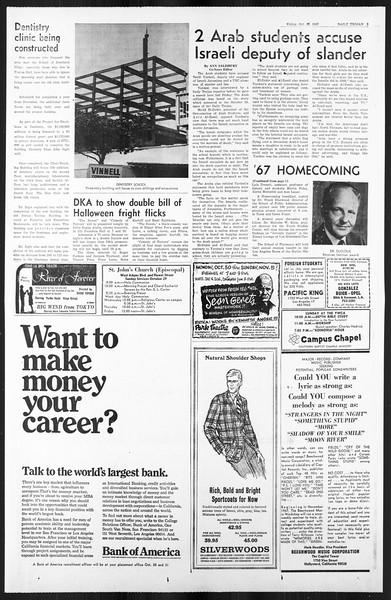 Daily Trojan, Vol. 59, No. 29, October 27, 1967