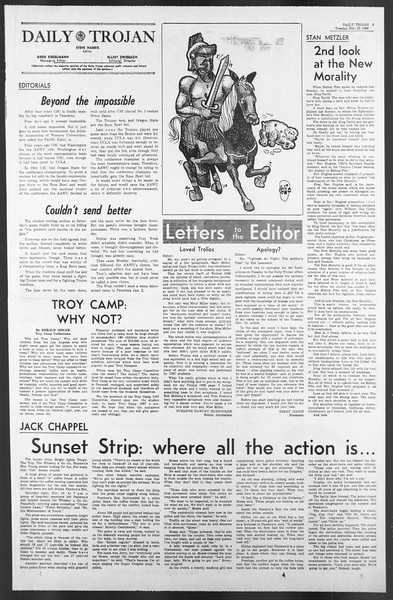Daily Trojan, Vol. 58, No. 46, November 22, 1966