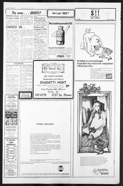 Daily Trojan, Vol. 59, No. 80, February 28, 1968