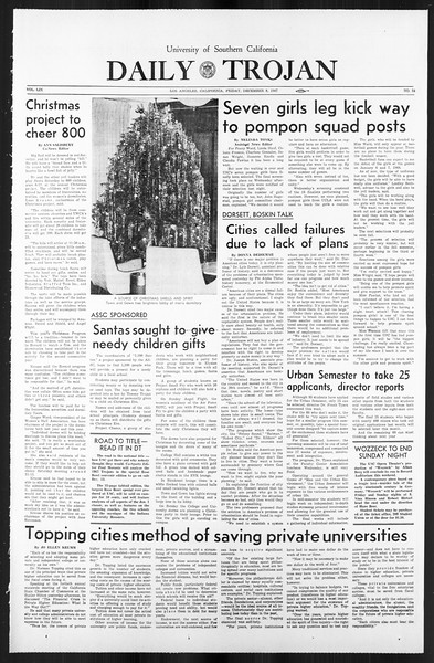 Daily Trojan, Vol. 59, No. 54, December 08, 1967