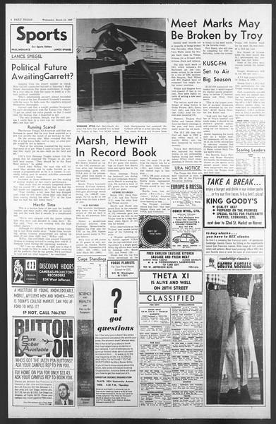 Daily Trojan, Vol. 58, No. 90, March 15, 1967