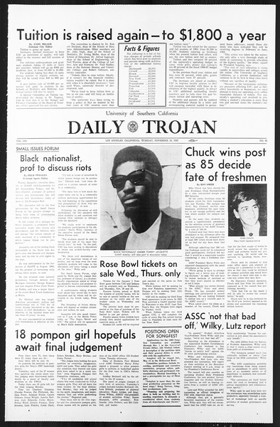 Daily Trojan, Vol. 59, No. 46, November 28, 1967