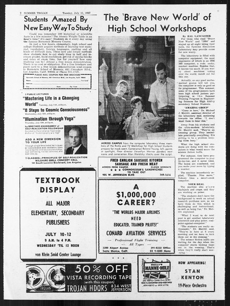 Summer Trojan, Vol. 18, No. 6, July 11, 1967