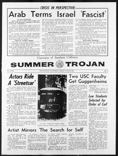 Summer Trojan, Vol. 18, No. 2, June 23, 1967